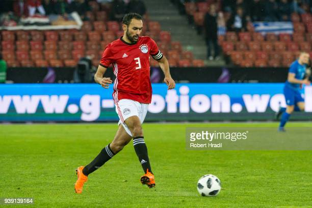 Ahmed Elmohamady of Egypt in action during the International Friendly between Egypt and Greece at the Letzigrund Stadium on March 27 2018 in Zurich...