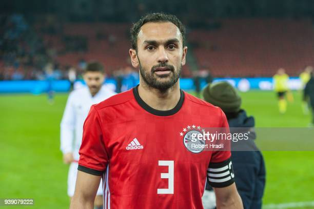 Ahmed Elmohamady of Egypt looks on during the International Friendly between Egypt and Greece at the Letzigrund Stadium on March 27 2018 in Zurich...