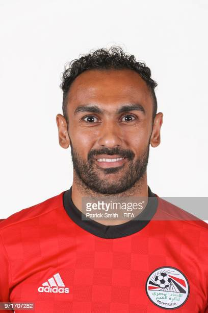Ahmed Elmohamady of Egypt poses for a portrait during the official FIFA World Cup 2018 portrait session at The Local Hotel on June 11 2018 in Gronzy...
