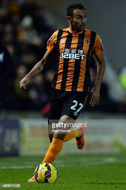 Ahmed Elmohamady of Hull City during the Barclays Premier League match between Hull City and Leicester City at the KC Stadium on December 28 2014 in...