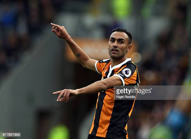Ahmed Elmohamady of Hull City during the Premier League match between Hull City and Stoke City at KC Stadium on October 22 2016 in Hull England