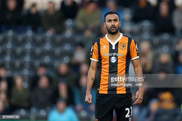 Ahmed Elmohamady of Hull City during the Premier League match between Hull City and West Bromwich Albion at KC Stadium on November 26 2016 in Hull...
