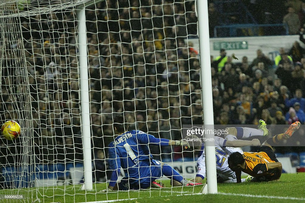 Ahmed Elmohamady of Hull City FC heads a goal during the Sky Bet Championship League match between Leeds United FC and Hull City FC on December 5, 2015 in Leeds, United Kingdom.