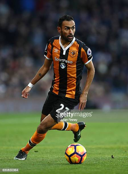 Ahmed Elmohamady of West Bromwich Albion in action during the Premier League match between West Bromwich Albion and Hull City at The Hawthorns on...
