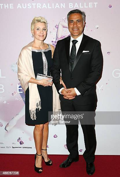 Ahmed Fahour Managing Director and Group CEO of Australia Post and Dionnie Fahour attend the Australian Ballet's 'The Sleeping Beauty' opening night...