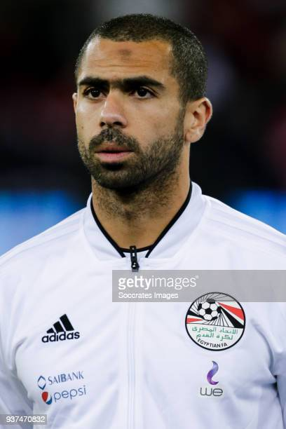 Ahmed Fathi of Egypt during the International Friendly match between Egypt v Portugal at the Letzigrund Stadium on March 23 2018 in Zurich Switzerland