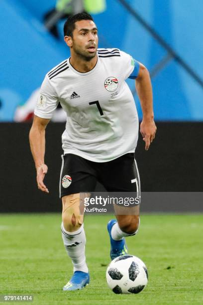 Ahmed Fathi of Egypt national team during the 2018 FIFA World Cup Russia group A match between Russia and Egypt on June 19 2018 at Saint Petersburg...