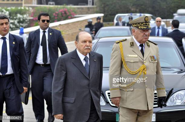 Ahmed Gaid Salah Chief of Staff of the Algerian Army with President Bouteflika on June 27 2012