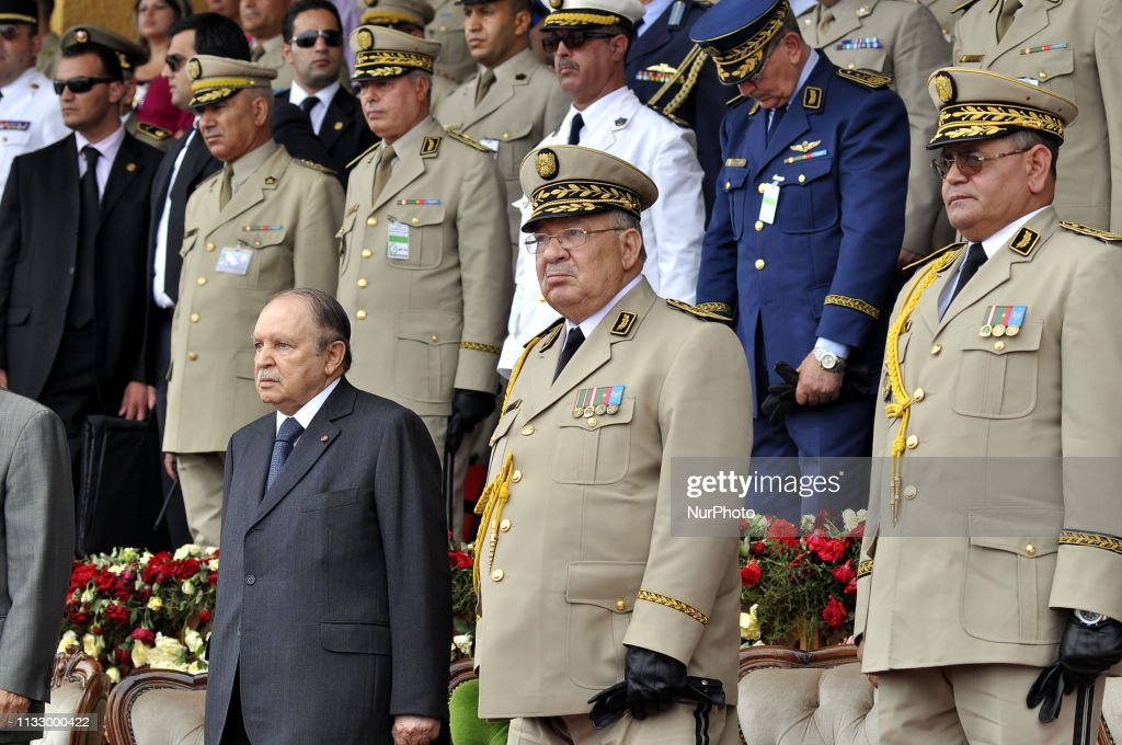 Ahmed Gaid Salah Chief Of Staff Of The Algerian Army : News Photo