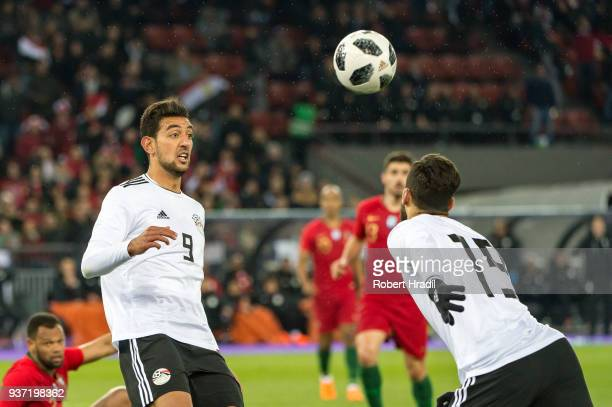 Ahmed Hassan Mahgoub of Egypt in action during the International Friendly between Portugal and Egypt at the Letzigrund Stadium on March 23 2018 in...