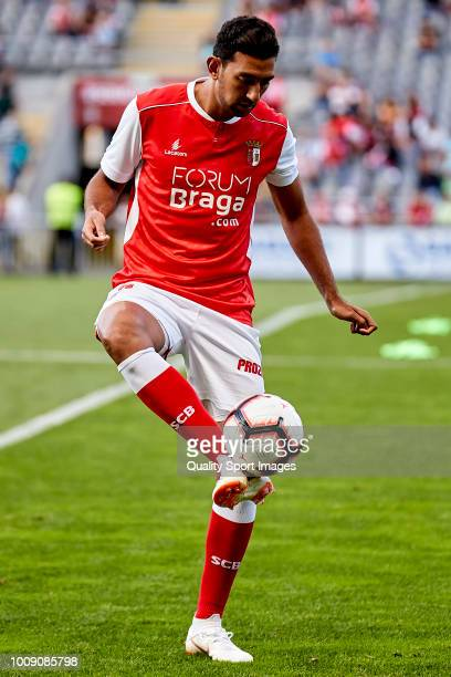 Ahmed Hassan Mahgoub of SC Braga in action prior to the Preseason friendly match between Sporting Braga and Celta de Vigo at the Estadio AXA on July...