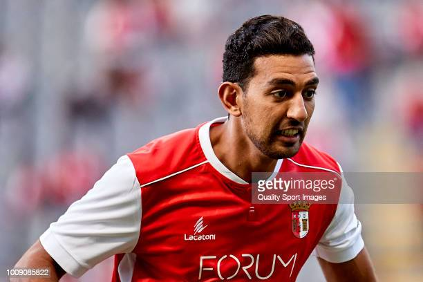 Ahmed Hassan Mahgoub of SC Braga looks on prior to the Preseason friendly match between Sporting Braga and Celta de Vigo at the Estadio AXA on July...