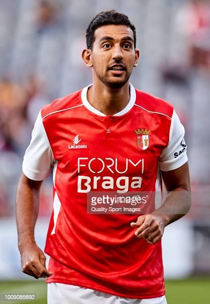 Ahmed Hassan Mahgoub of SC Braga looks on prior to the Preseason friendly match between Sporting Braga and Celta de Vigo at the Estadio AXA on July...
