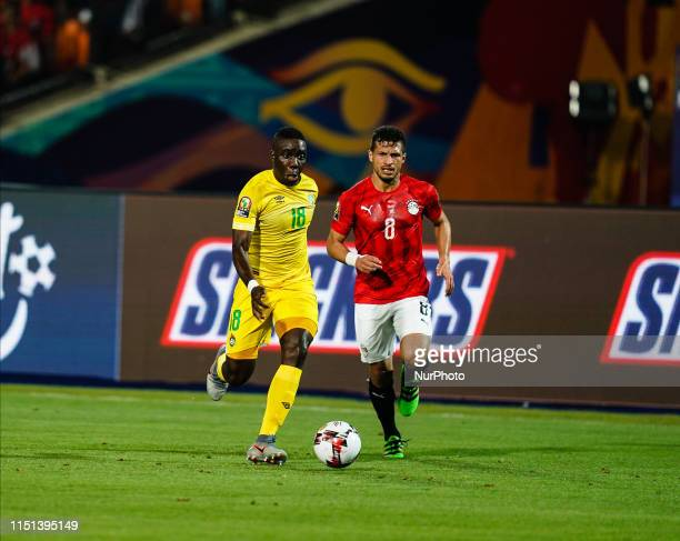 Ahmed Hassan Mohamed Abdelmonem Mohamed Mahgoub of Egypt in front of Tarek Hamed of Egypt during the African Cup of Nations match between Egypt and...