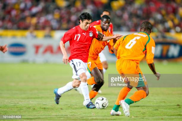 Ahmed Hassan of Egypt during the 2006 Africa Cup of Nations Final match between Egypt and Ivory Coast at Cairo International Stadium Egypt on...