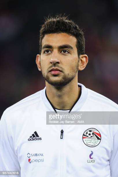 Ahmed Hassan of Egypt during the International Friendly match between Portugal and Egypt at Stadion Letzigrund on March 23 2018 in Zurich Switzerland