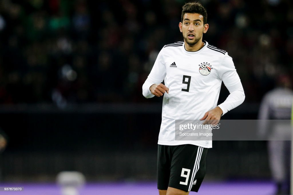 Ahmed Hassan of Egypt during the International Friendly match between Egypt v Portugal at the Letzigrund Stadium on March 23, 2018 in Zurich Switzerland