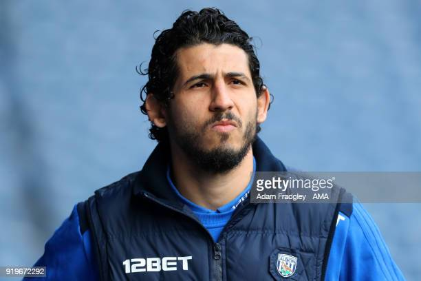 Ahmed Hegazi of West Bromwich Albion arrives during the Emirates FA Cup Fifth Round between West Bromwich Albion and Southampton at The Hawthorns on...