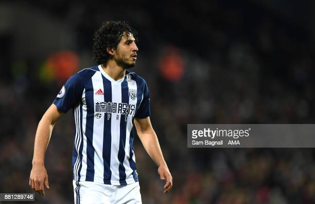 Ahmed Hegazi of West Bromwich Albion during the Premier League match between West Bromwich Albion and Newcastle United at The Hawthorns on November...