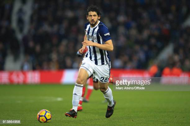 Ahmed Hegazi of West Bromwich Albion during the Premier League match between West Bromwich Albion and Southampton at The Hawthorns on February 3 2018...