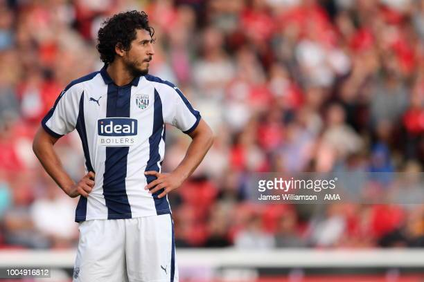 Ahmed Hegazi of West Bromwich Albion during the PreSeason Friendly match between Barnsley and West Bromwich Albion at Oakwell Stadium on July 24 2018...