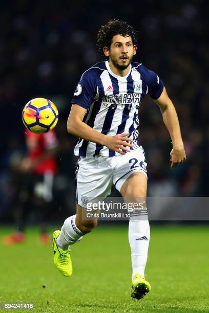 Ahmed Hegazi of West Bromwich Albion in action during the Premier League match between West Bromwich Albion and Manchester United at The Hawthorns on...