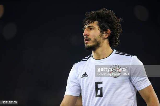 Ahmed Hegazy of Egypt during the International Friendly match between Portugal and Egypt at Stadion Letzigrund on March 23 2018 in Zurich Switzerland