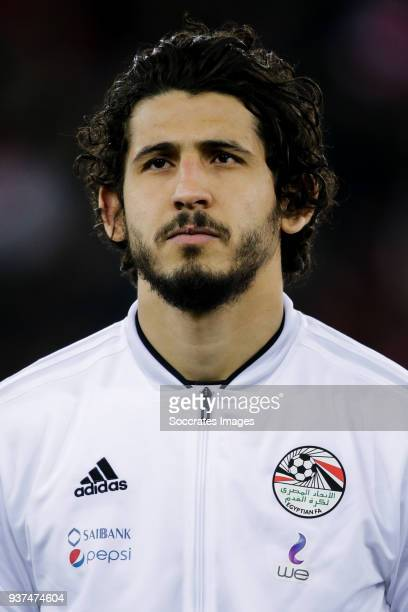 Ahmed Hegazy of Egypt during the International Friendly match between Egypt v Portugal at the Letzigrund Stadium on March 23 2018 in Zurich...