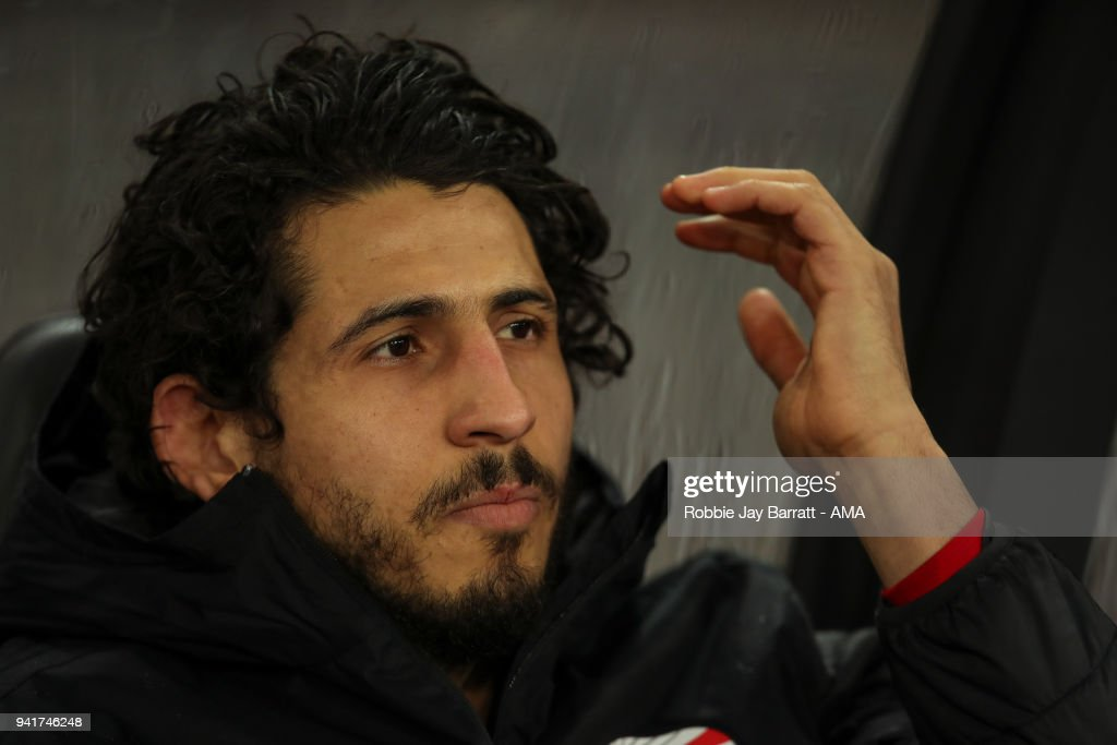 Ahmed Hegazy of Egypt during the International Friendly match between Egypt and Greece at Stadion Letzigrund at Letzigrund on March 27, 2018 in Zurich, Switzerland.