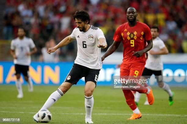 Ahmed Hegazy of Egypt during the International Friendly match between Belgium v Egypt at the Koning Boudewijnstadion on June 6 2018 in Brussel Belgium