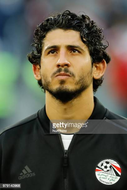 Ahmed Hegazy of Egypt national team during the 2018 FIFA World Cup Russia group A match between Russia and Egypt on June 19 2018 at Saint Petersburg...