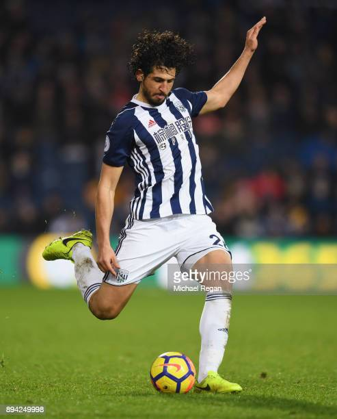 Ahmed Hegazy of West Brom in action during the Premier League match between West Bromwich Albion and Manchester United at The Hawthorns on December...