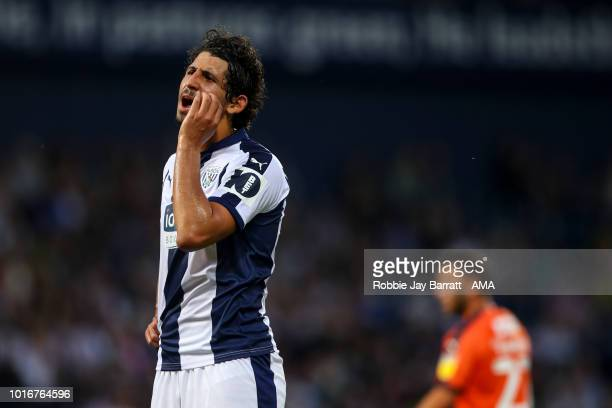 Ahmed Hegazy of West Bromwich Albion during the Carabao Cup First Round match between West Bromwich Albion and Luton Town at The Hawthorns on August...