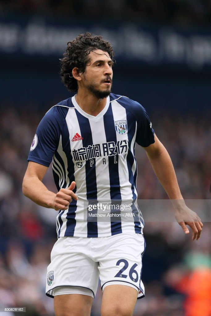 Ahmed Hegazy of West Bromwich Albion during the Premier League match between West Bromwich Albion and AFC Bournemouth at The Hawthorns on August 12, 2017 in West Bromwich, England.