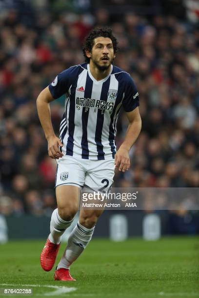 Ahmed Hegazy of West Bromwich Albion during the Premier League match between West Bromwich Albion and Chelsea at The Hawthorns on November 18 2017 in...