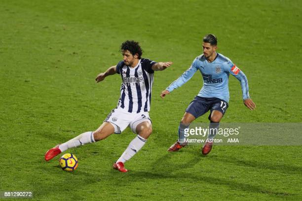 Ahmed Hegazy of West Bromwich Albion during the Premier League match between West Bromwich Albion and Newcastle United at The Hawthorns on November...