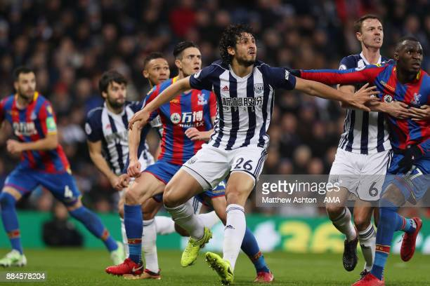 Ahmed Hegazy of West Bromwich Albion during the Premier League match between West Bromwich Albion and Crystal Palace at The Hawthorns on December 2...