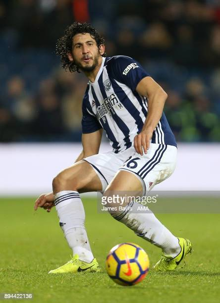 Ahmed Hegazy of West Bromwich Albion during the Premier League match between West Bromwich Albion and Manchester United at The Hawthorns on December...