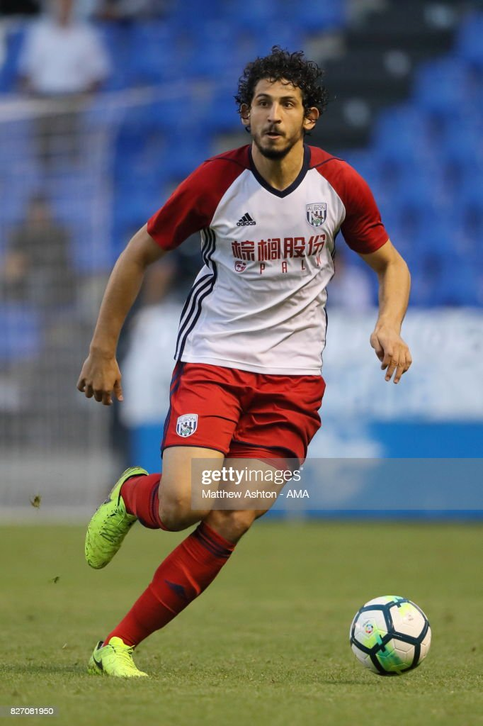 Ahmed Hegazy of West Bromwich Albion during the Pre-Season Friendly between Deportivo de La Coruna and West Bromwich Albion on August 5, 2017 in La Coruna, Spain.