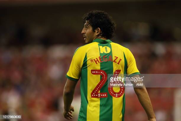 Ahmed Hegazy of West Bromwich Albion during the Sky Bet Championship match between Nottingham Forest v West Bromwich Albion at City Ground on August...