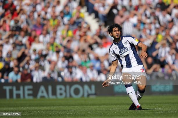 Ahmed Hegazy of West Bromwich Albion during the Sky Bet Championship match between West Bromwich Albion v Stoke City at The Hawthorns on September 1...