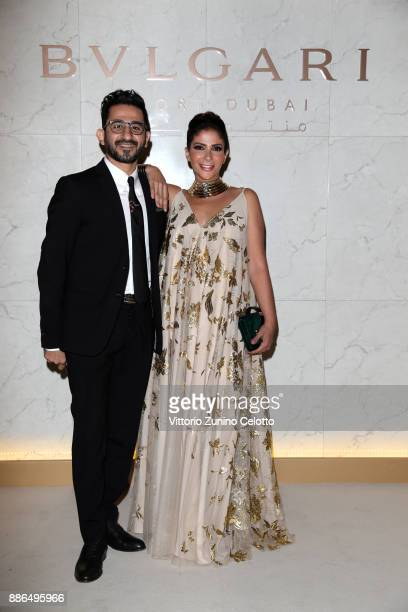 Ahmed Helmy and Mona Zaki attend the Grand Opening of Bulgari Dubai Resort on December 5 2017 in Dubai United Arab Emirates