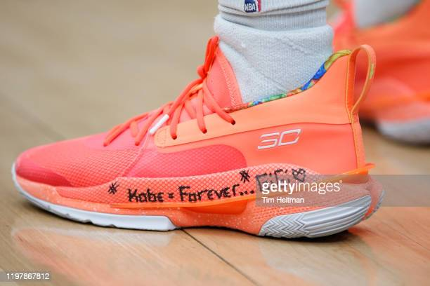 Ahmed Hill of the Northern Arizona Suns shoes have a tribute to Kobe Bryan on them during the fourth quarter against the Texas Legends of the...
