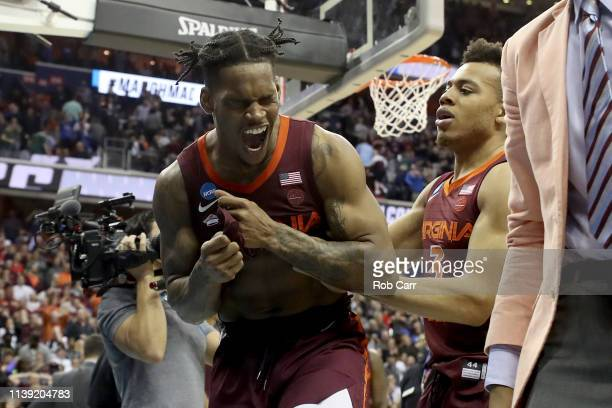 Ahmed Hill of the Virginia Tech Hokies reacts after missing a layup against the Duke Blue Devils late in the second half in the East Regional game of...