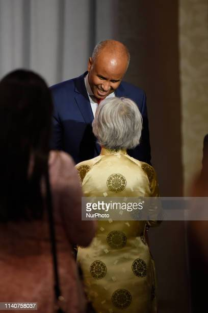 Ahmed Hussen Minister of Immigration Refugees and Citizenship meeting people at an open Liberal fundraising event in Mississauga ON on May 1 2019