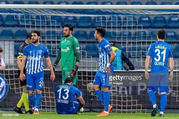 Ahmed Ildiz of Kasimpasa AS Syam Habib Ben Youssef of Kasimpasa AS goalkeeper Ramazan Köse of Kasimpasa AS Mahmoud Ahmed Ibrahim Hassan of Kasimpasa...