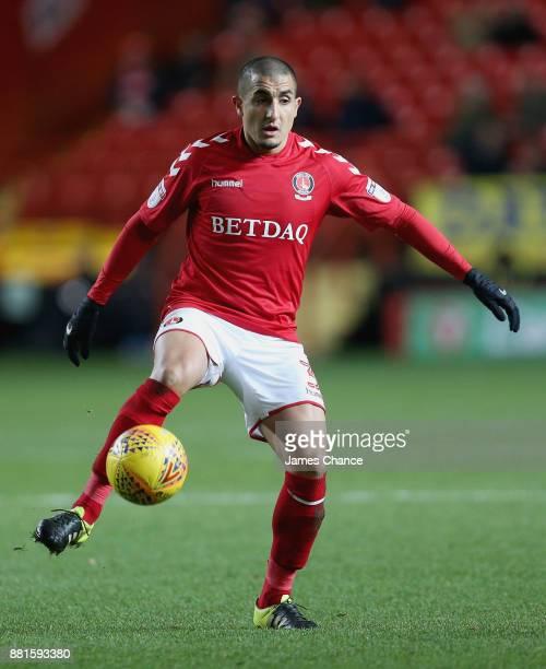 Ahmed Kashi of Charlton Athletic controls the ball during the Sky Bet League One match between Charlton Athletic and Peterborough United at The...