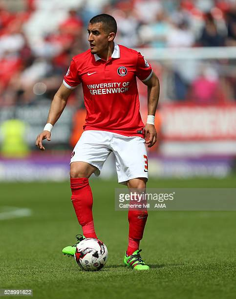Ahmed Kashi of Charlton Athletic during the Sky Bet Championship match between Charlton Athletic and Burnley at The Valley on May 7 2016 in London...