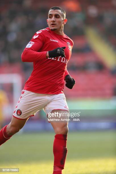 Ahmed Kashi of Charlton Athletic during the Sky Bet League One match between Charlton Athletic and Shrewsbury Town at The Valley on February 24 2018...