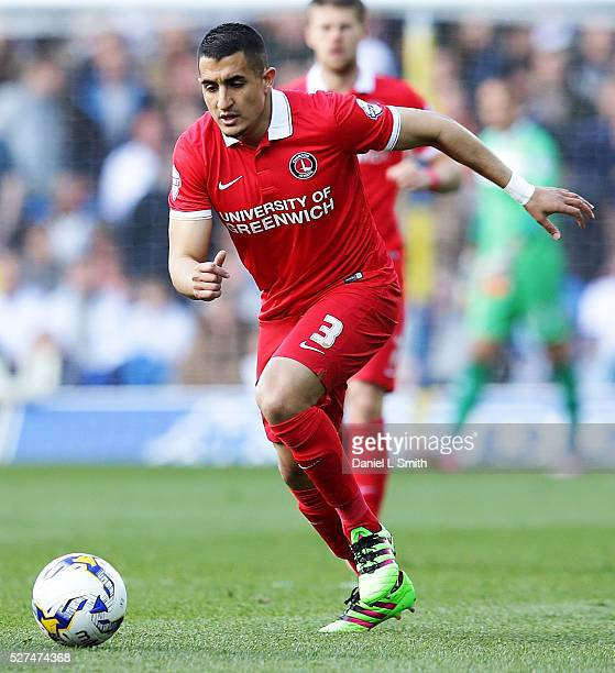 Ahmed Kashi of Charlton Athletic FC during the Sky Bet Championship match between Leeds United and Charlton Athletic at Elland Road on April 30 2016...